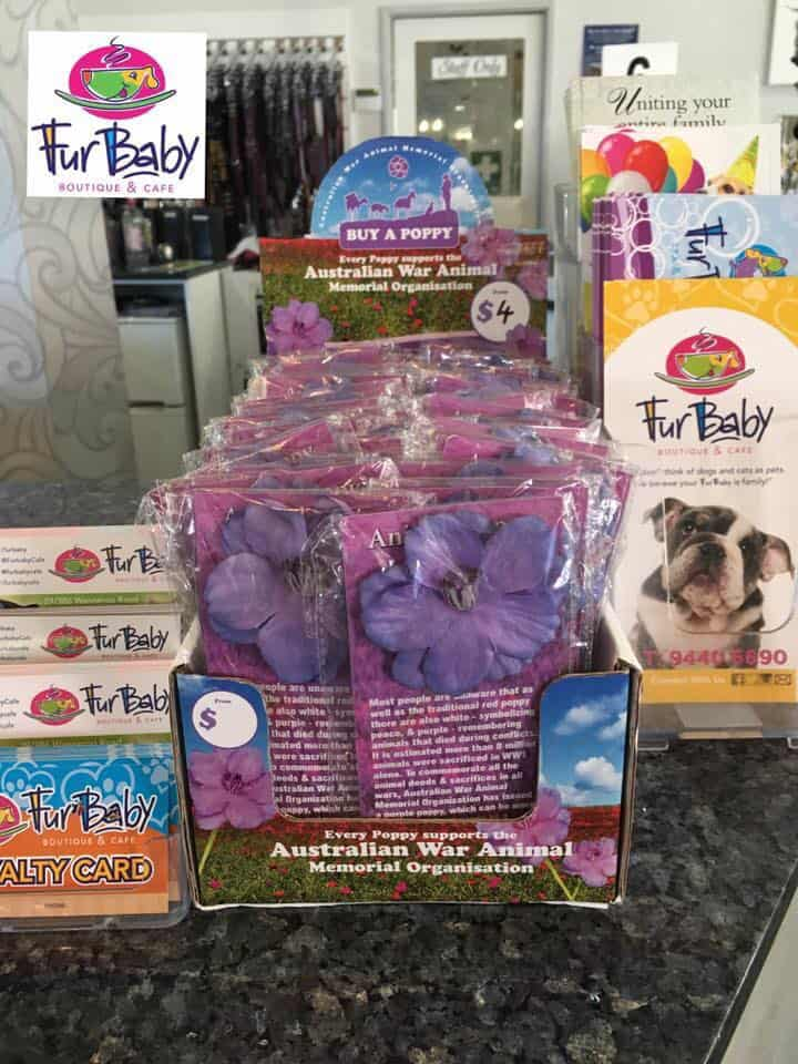 FBBC Purple Poppy Display, FurBaby