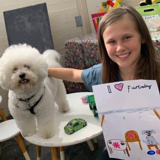 Bichon and Little Girl